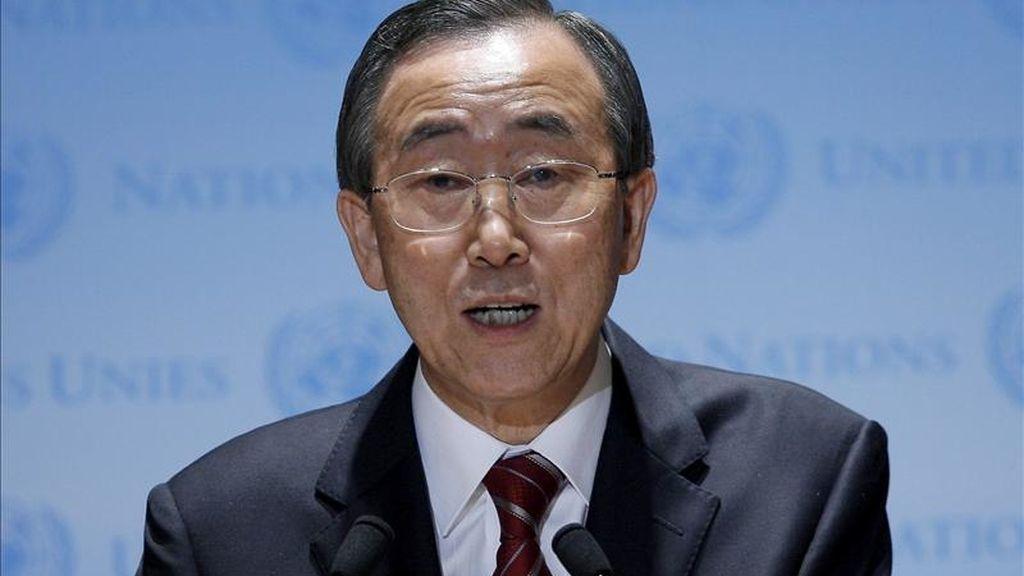 En la imagen, el secretario general de la ONU, Ban Ki-moon. EFE/Archivo