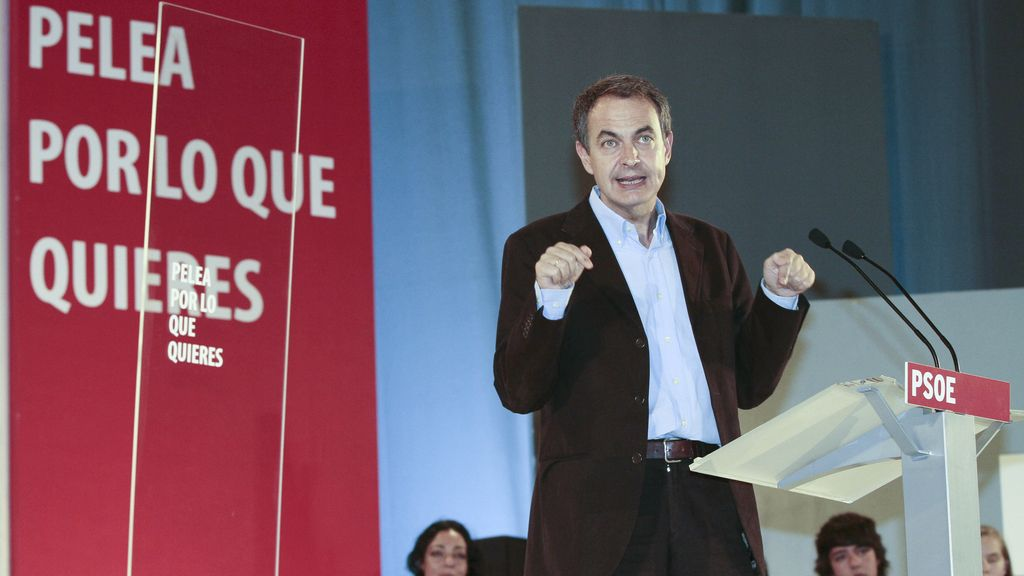 José Luis Rodríguez Zapatero, en Lugo.