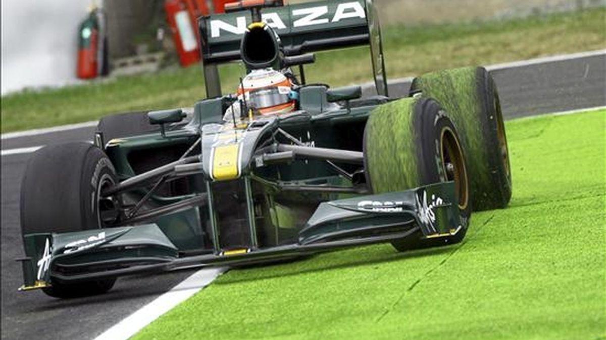 El piloto italiano de Fórmula Uno, Jarno Trulli de Lotus Racing. EFE/Archivo