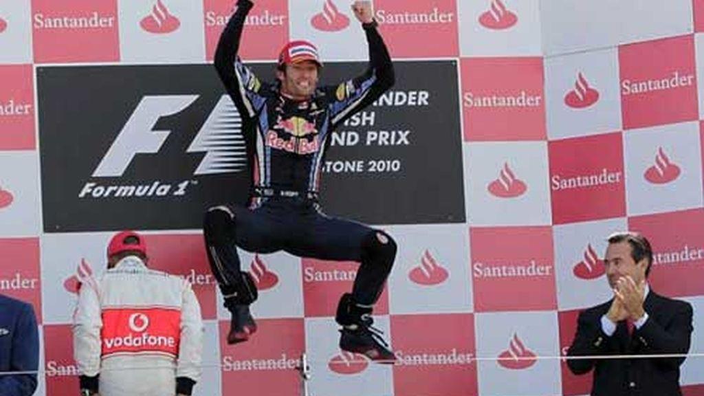 webber gana en Silverstone
