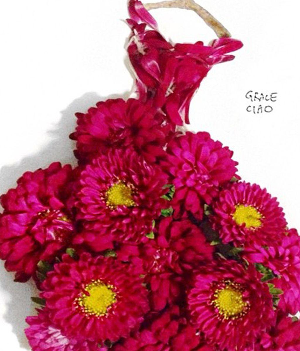 Vestidos hechos con flores