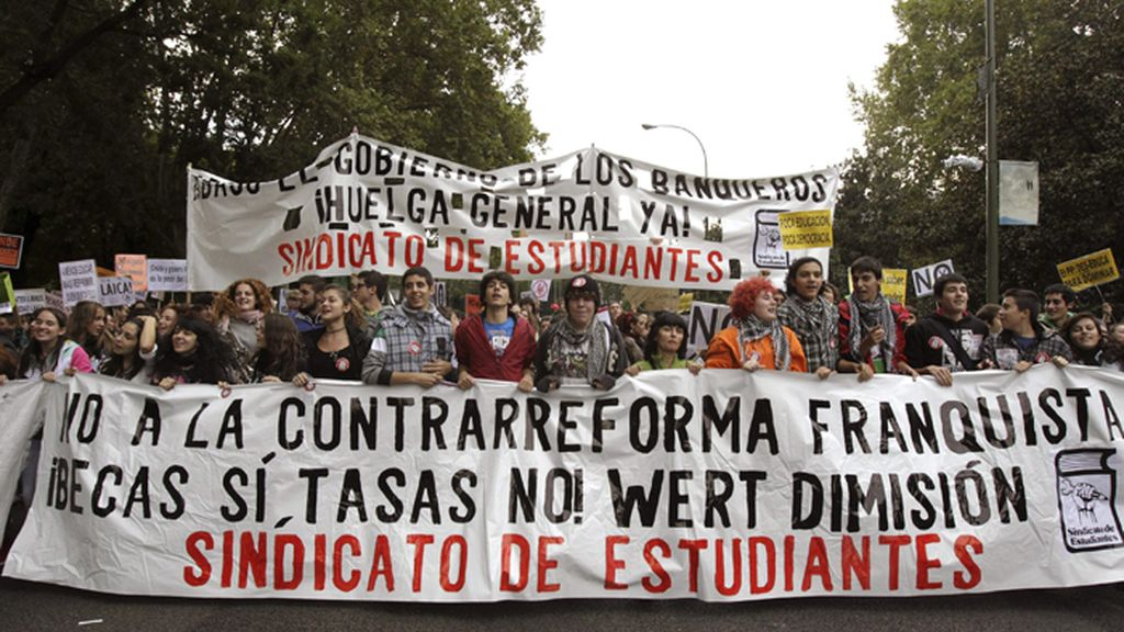 Manifestacion en Madrid contra la LOMCE