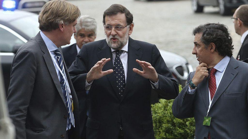 Rajoy en la reunión del PPE en Bruselas