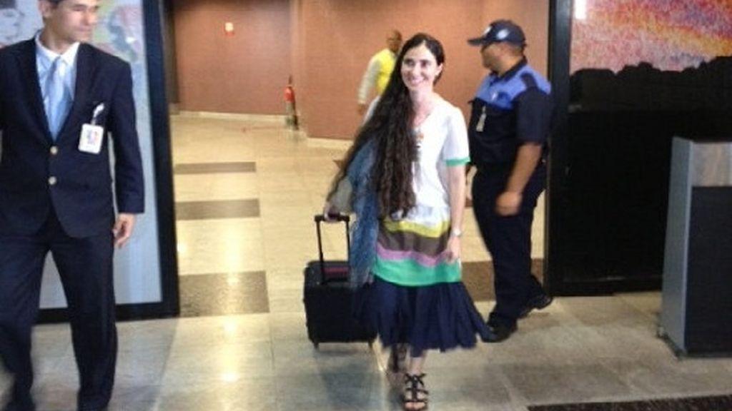 Yoanni Sánchez, a su llegada a Brasil