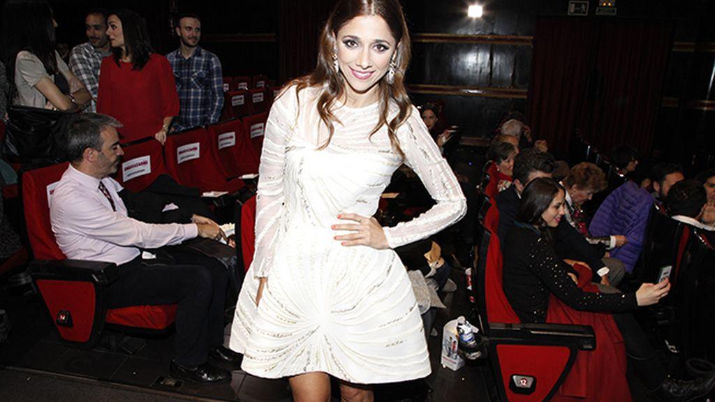 Mariam Hernández con vestido de Fernando Claro