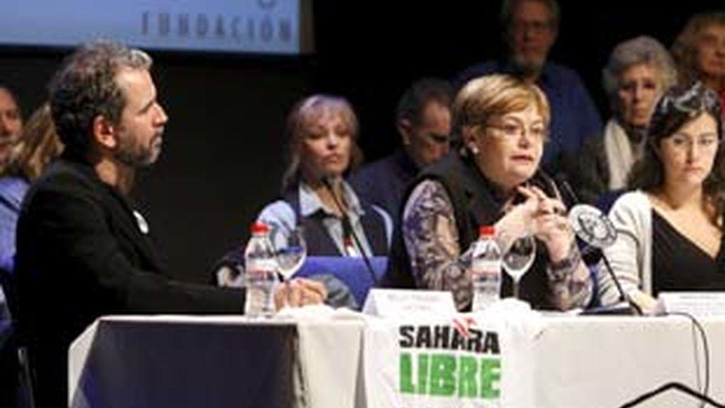 Willy Toledo en la mesa redonda en Madrid que aborda el problema del Sáhara. Foto: Archivo.