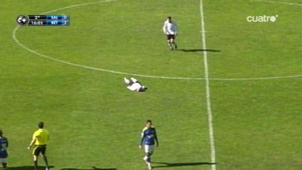 Un jugador del Salamanca se desploma por un infarto