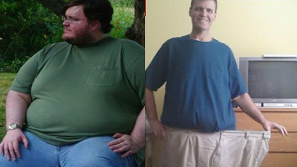 Un hombre pierde 180 kilos gracias a una compañera de un juego de smartphone