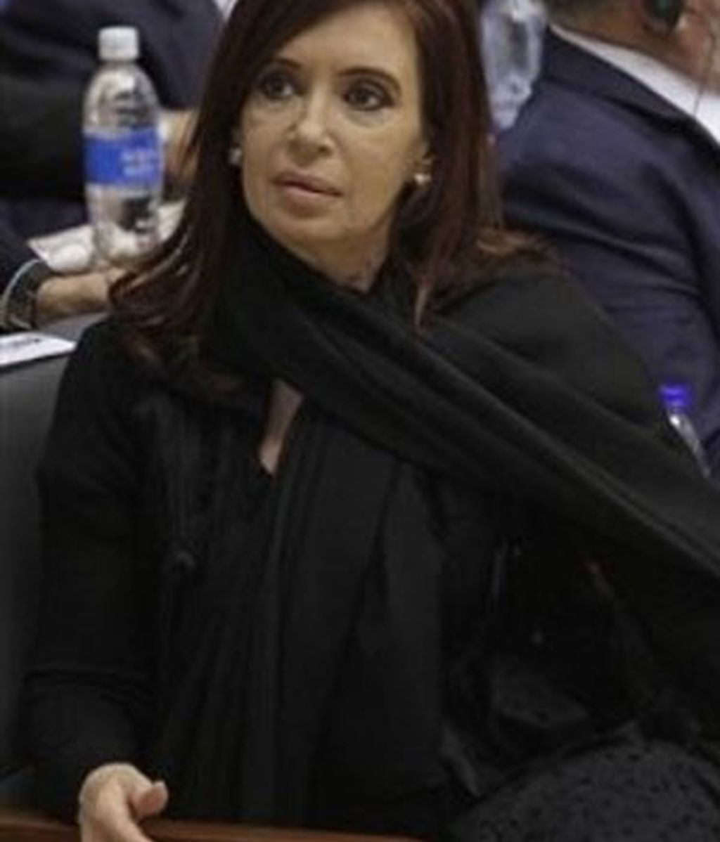 Imagen de Cristina Kirchner. Foto: AP.