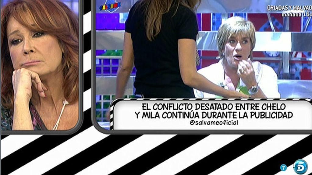 Chelo Gª Cortés abandona el plató tras un enfrentamiento con Mila Ximénez