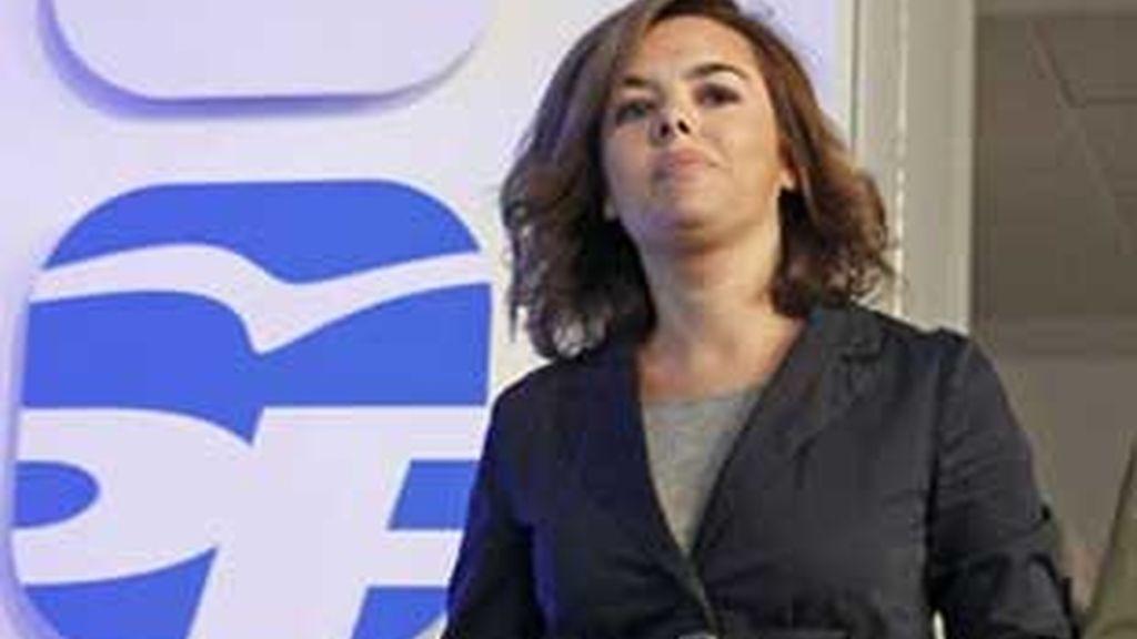 Sorata Saénz de Santamaría, portavoz del PP en el Congreso. Video:ATLAS