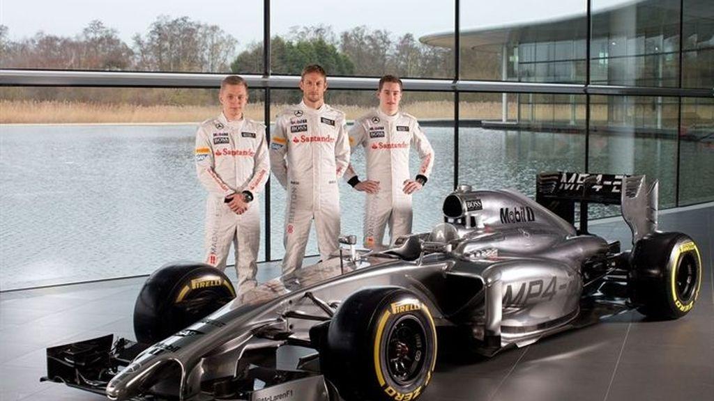 El nuevo MP4-29 de McLaren retoma el espíritu de las 'flechas plateadas'