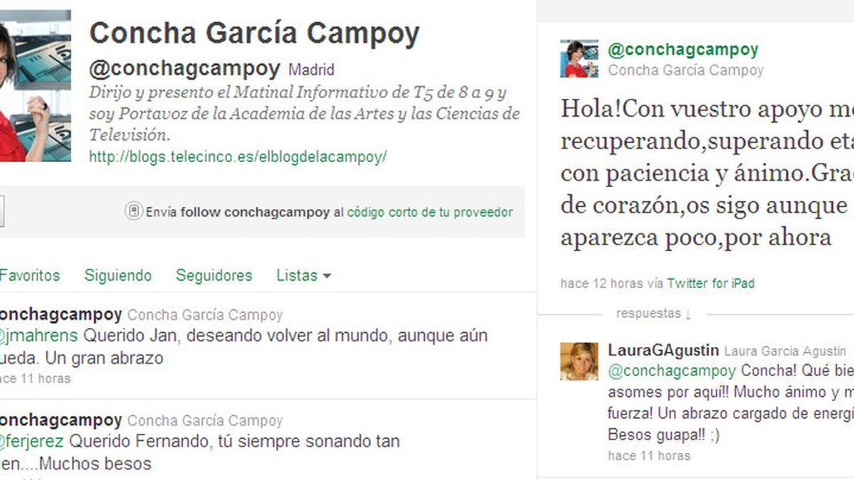 Concha García Campoy en Twitter