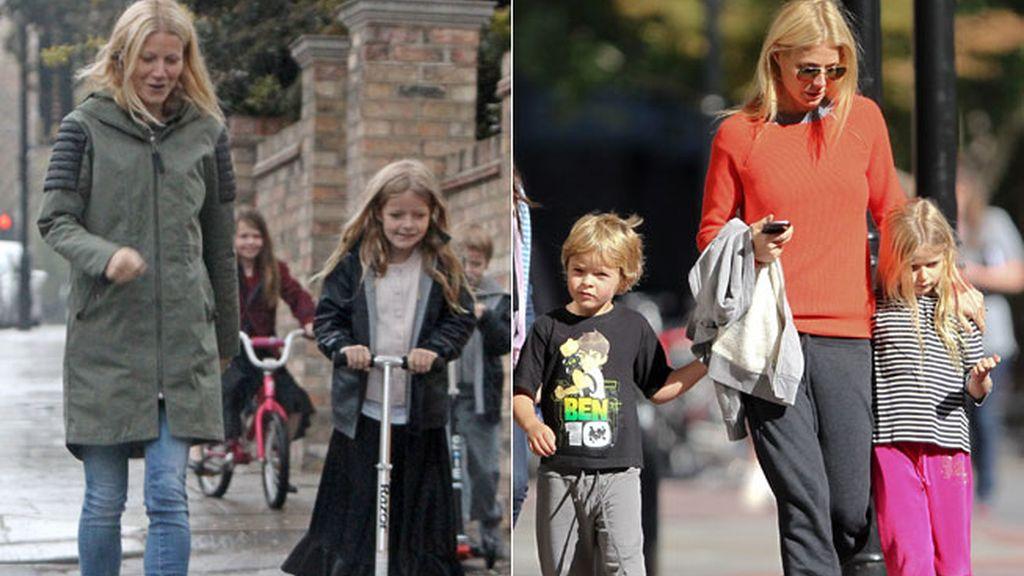 Apple y Moses, los hijos de Gwyneth Paltrow y Chris Martin