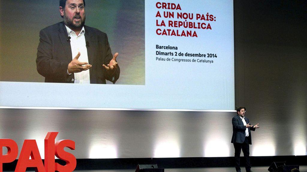 Conferencia del líder de ERC, Oriol Junqueras