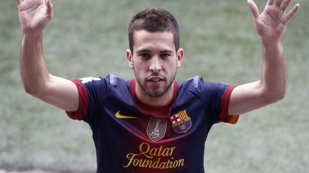 Firma y presentación con el Barça de Jordi Alba