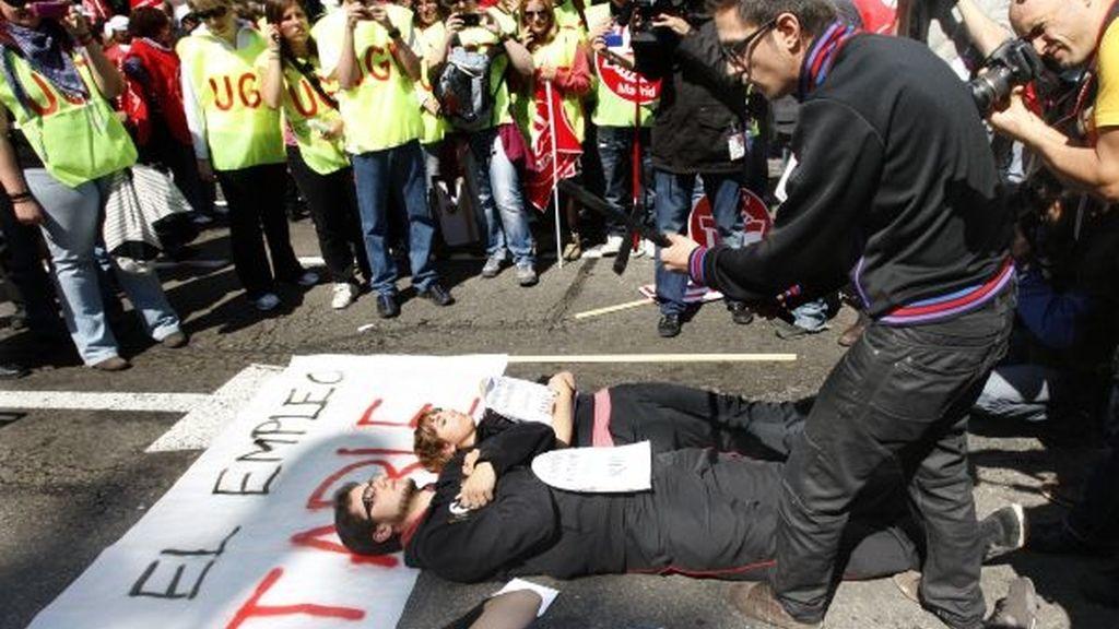 Manifestantes en la marcha de Madrid