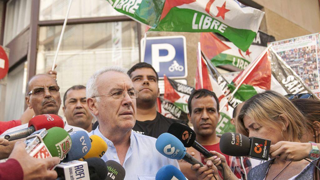 El coordinador general de Izquierda Unida, Cayo Lara, en Las Palmas de Gran Canaria