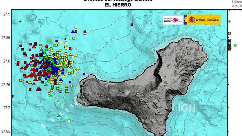 La isla del Hierro sufre un terremo de magnitud 4,1 grados en la escala Richter