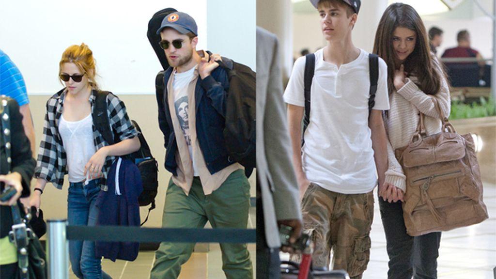 Viajando con Kristen y Selena, en el aeropuerto