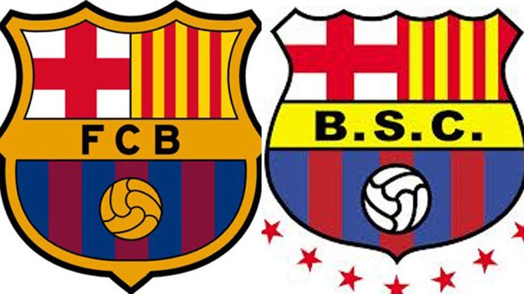 Escudos del FC Barcelona y Barcelona SC