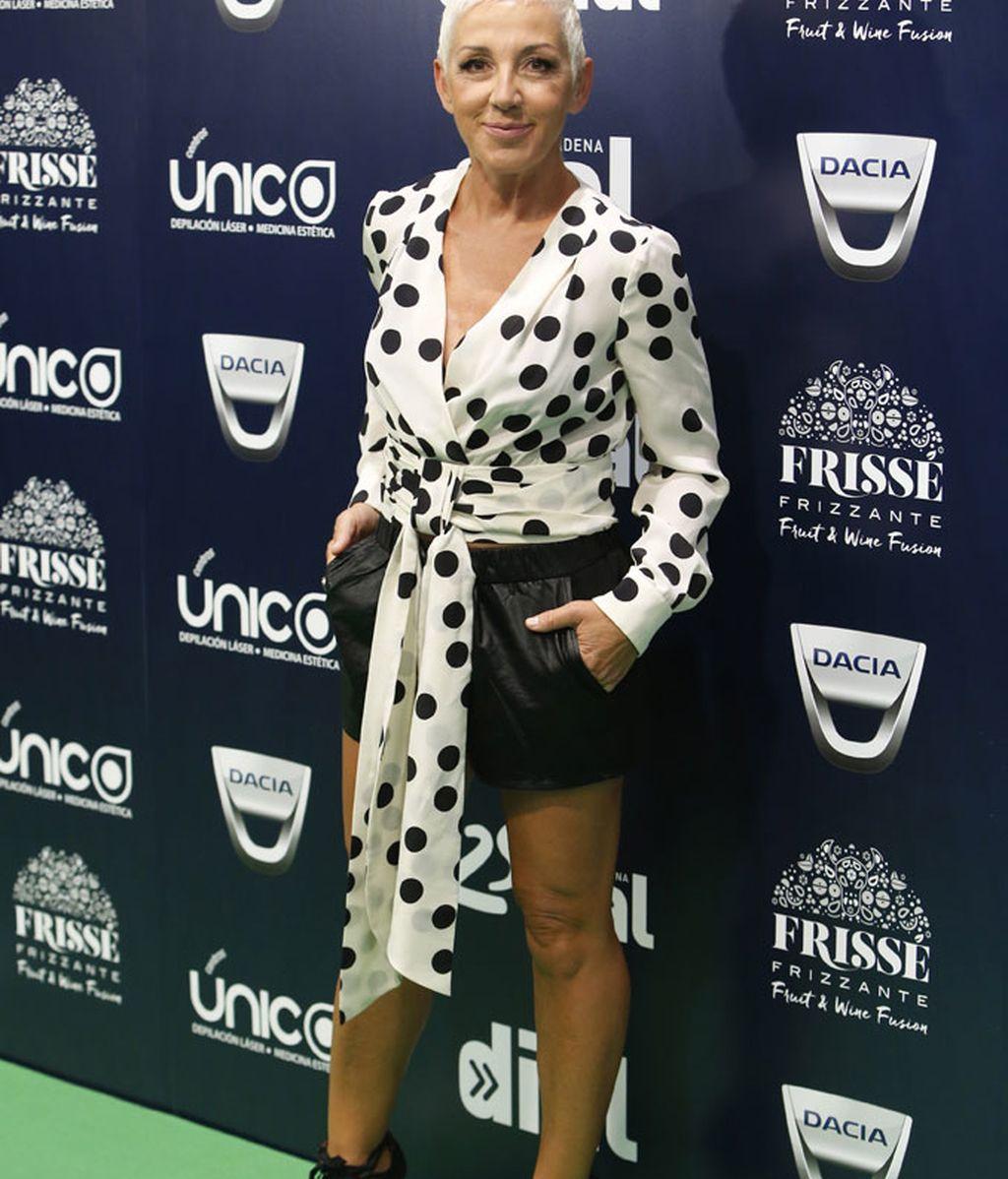 Ana Torroja en la gala de 25 Aniversario de Cadena Dial