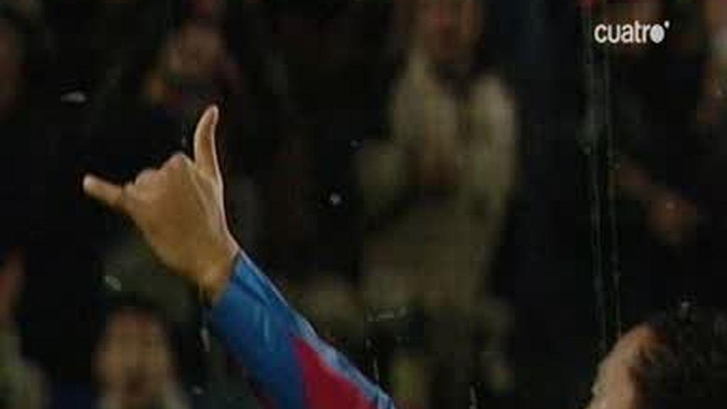 Ronaldinho se reencuentra con la afición blaugrana