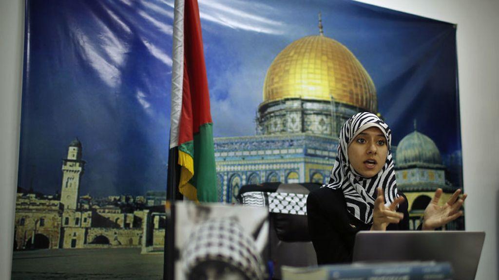 Isra al Modallal, la nueva portavoz de Hamas