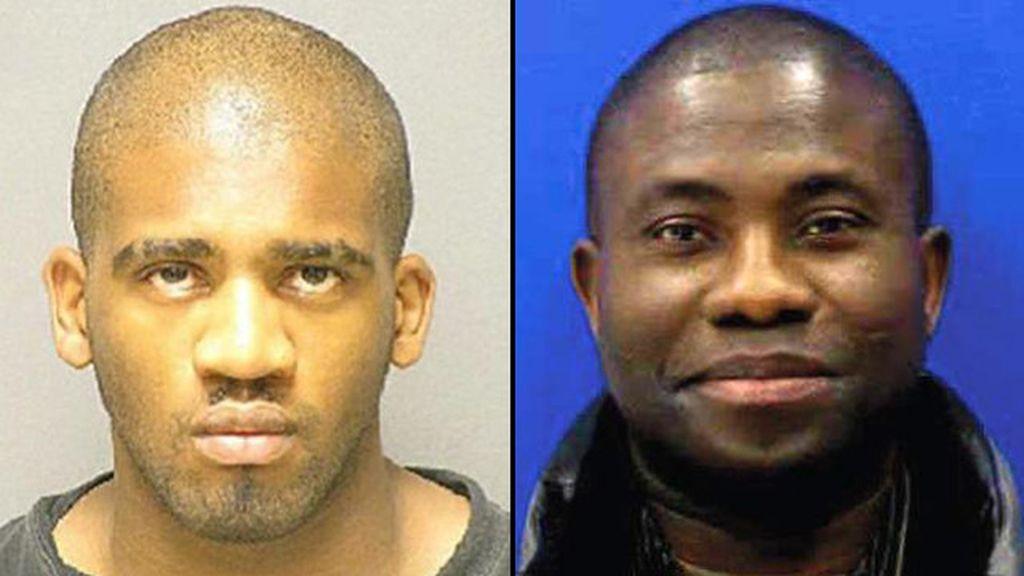 Alexander Kinyua, izquierda, es sospechoso de matar y comerse el corazón y el cerebro de Kujoe Bonsafo Agyei-Kodie, derecha.
