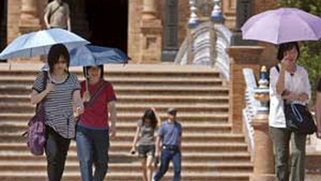 Jaén roza los 40 grados. Vídeo: ATLAS