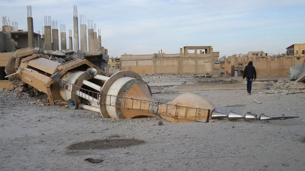 Bombardeos en Raqqa, Siria