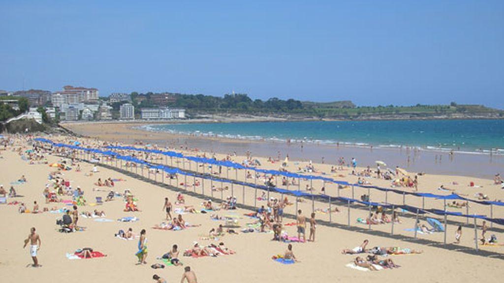 Playa de El Sardinero, en Santander