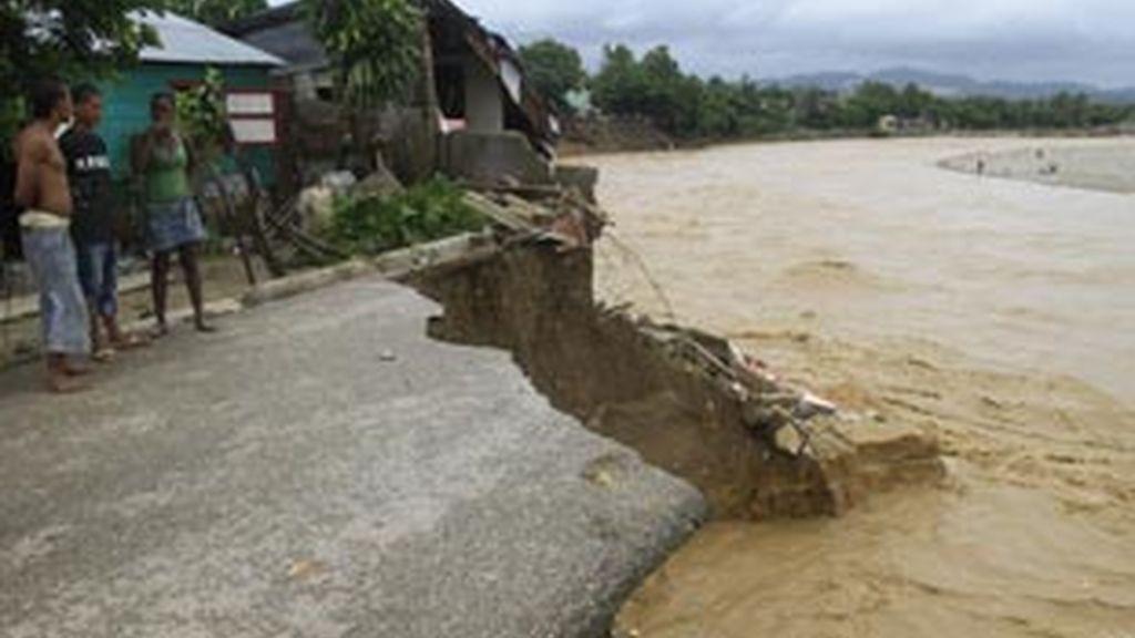 Las consecuencias de Irene a su paso por República Dominicana. Foto: EFE