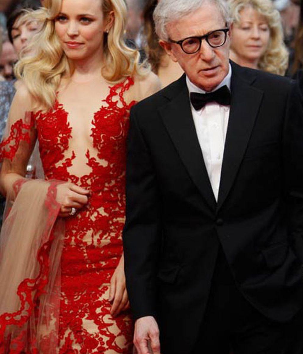 Woody Allen y Rachel Adams