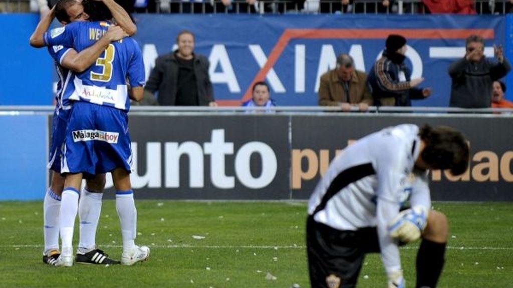 3-2. Salva Ballesta le da al Málaga la remontada