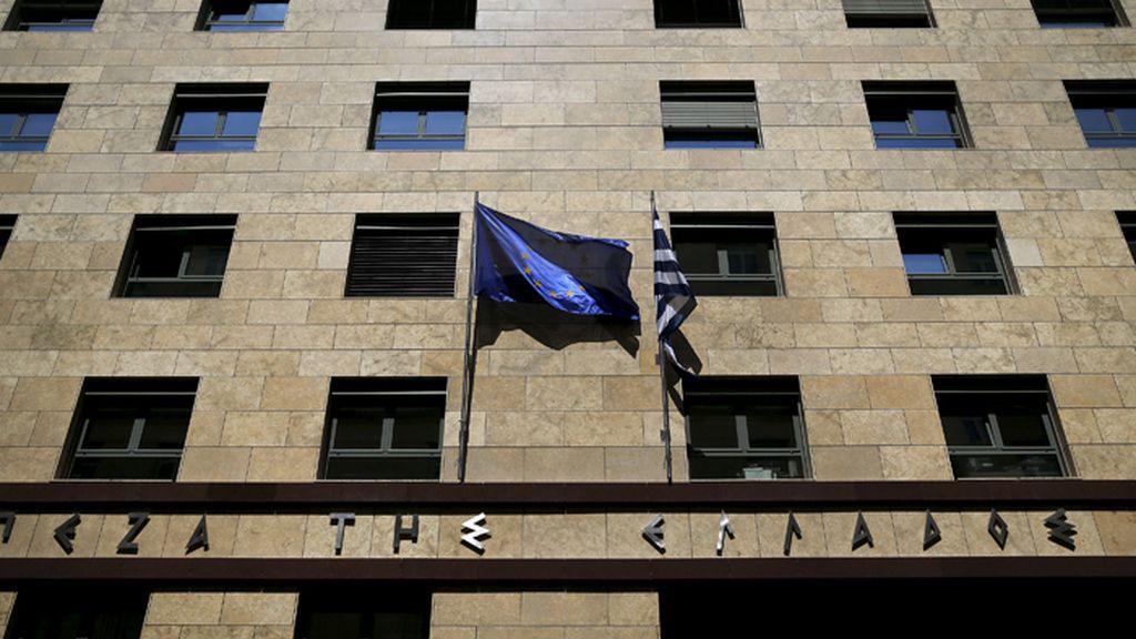 Fachada del Banco de Grecia