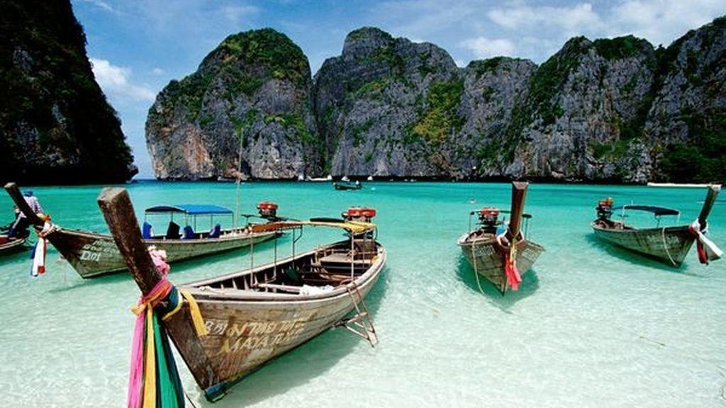 Recorrer Maya Bay en las Islas Phi Phi, Tailandia. Escenario de la película 'La Playa'