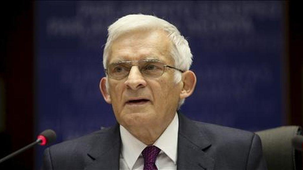 El presidente del Parlamento Europeo (PE), Jerzy Buzek. EFE/Archivo