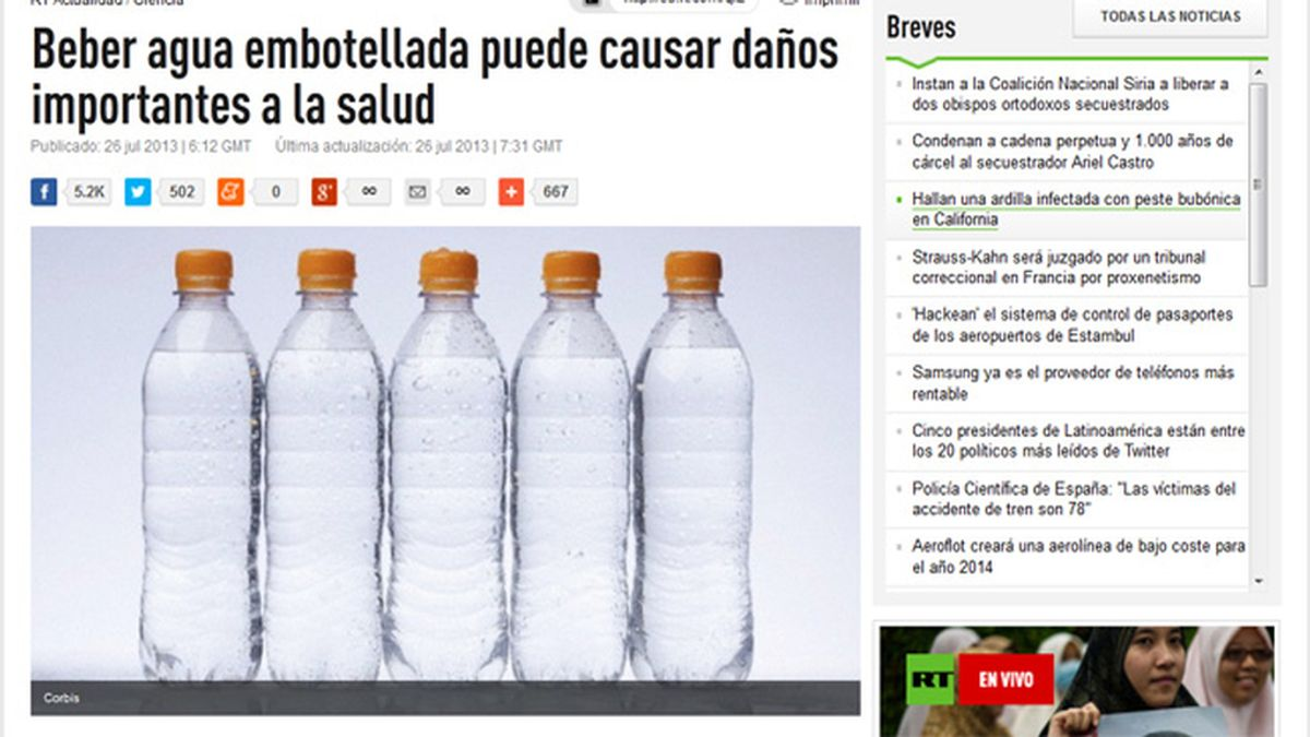 Beber agua embotellada, peor que la del grifo