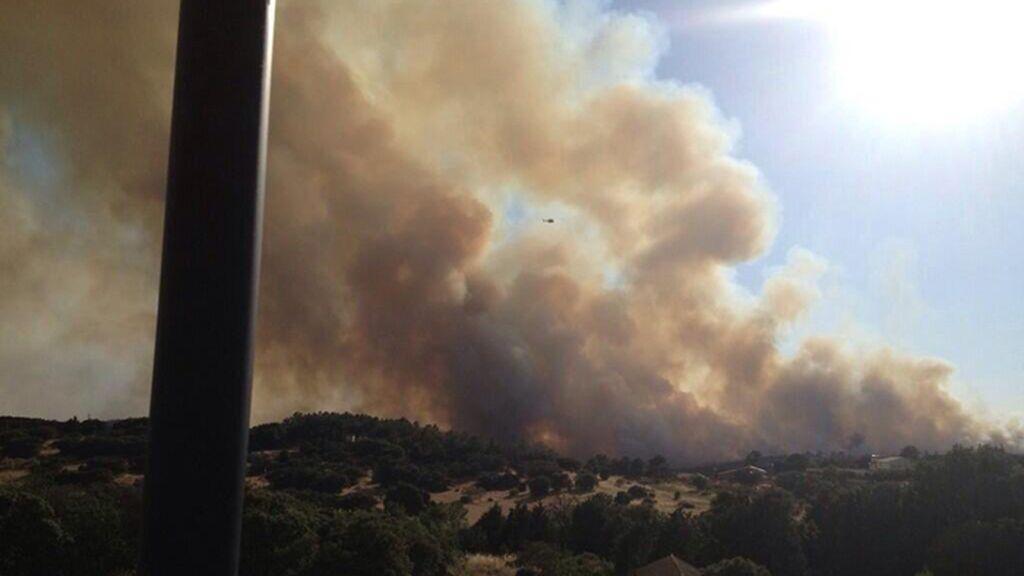 Incendio forestal en Valdemorillo (Madrid)