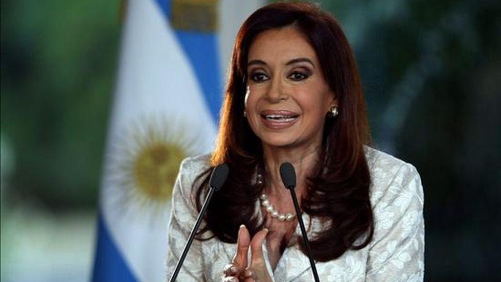 La presidenet argentina Cristina Fernandez de Kirchner, quien mañana inicia una visita oficial a España. EFE