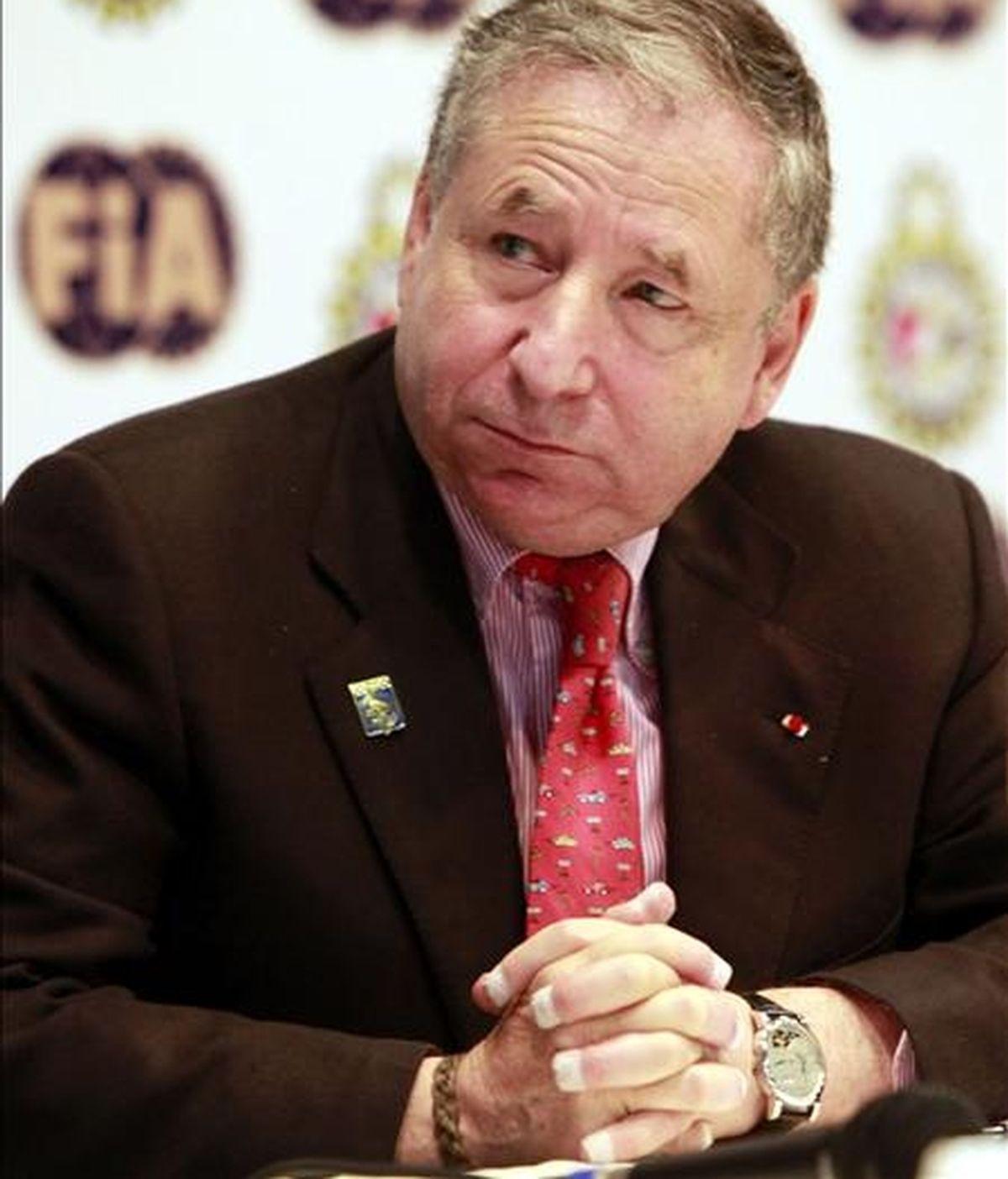 El presidente de la Federación Internacional de Automovilismo (FIA), el francés Jean Todt. EFE/Archivo