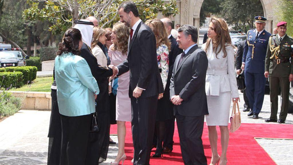Letizia y Rania, juntas en Jordania