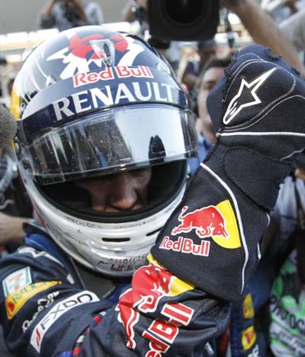 La prensa con Vettel
