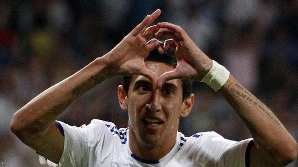 Di María marcó un buen gol frente al Peñarol
