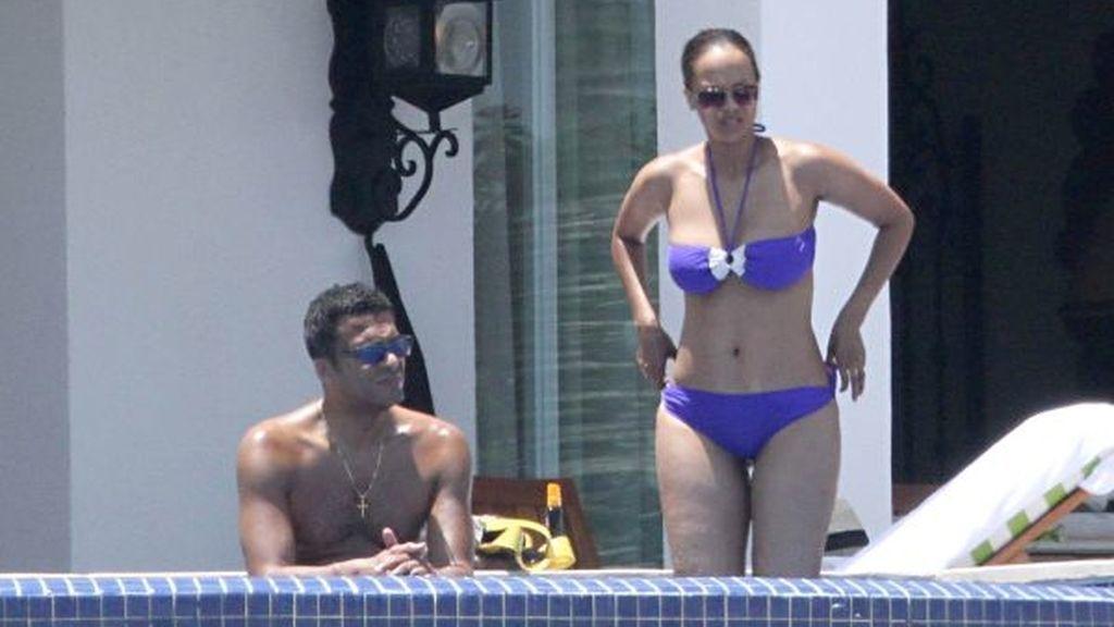 Tyra Banks y su novio, en Los Cabos (México)