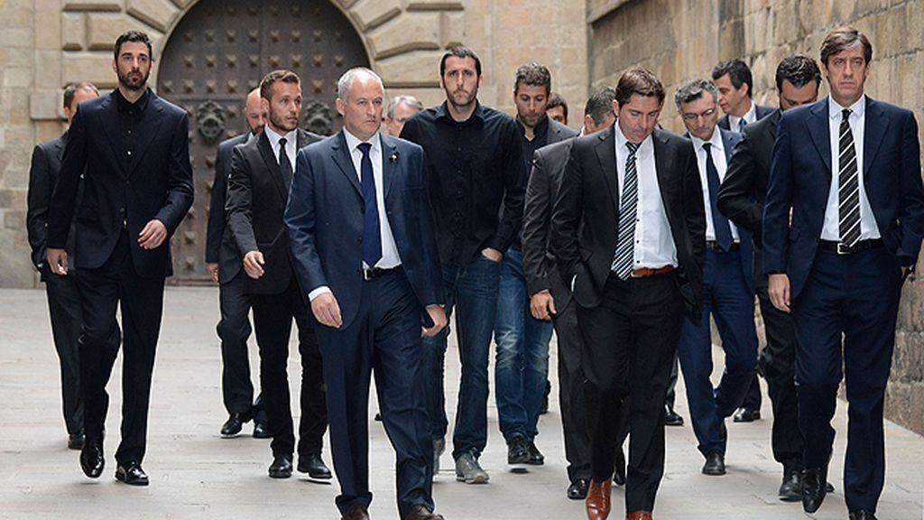 Juan Carlos Navarro, en el funeral