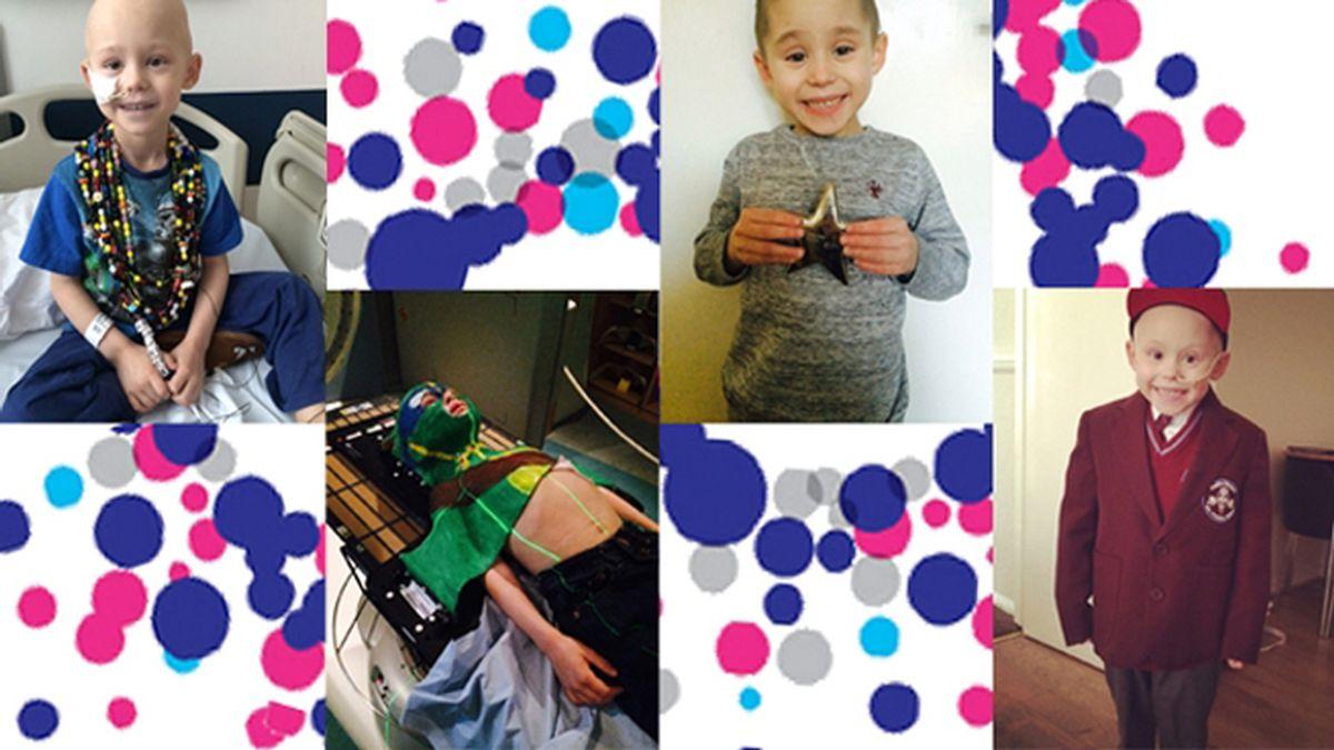 Un niño combate el cáncer como un superhéroe