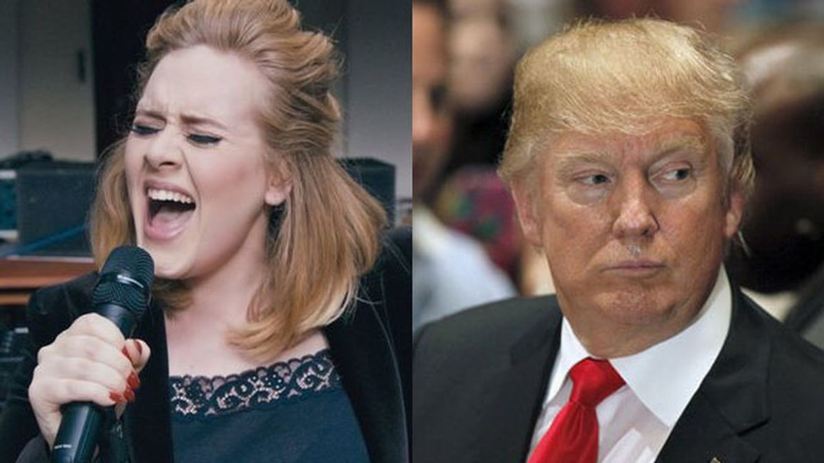 Adele y Trump