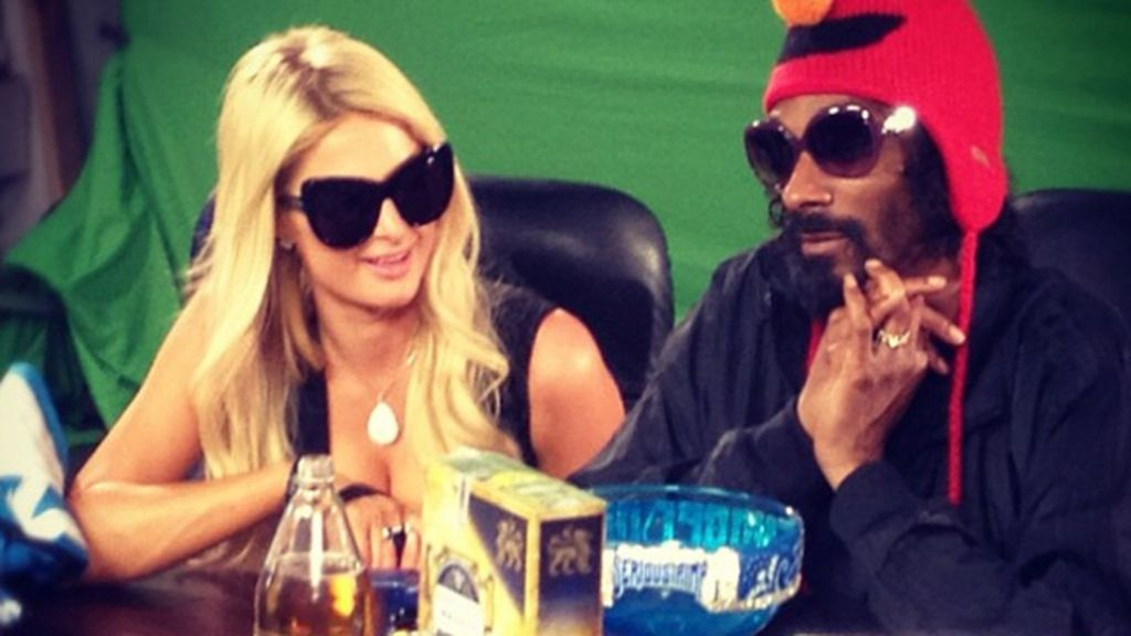 Paris Hilton en el Twitter de Snoop Dog